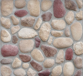 Earthblend River Rock Veneer | Stone for Walls and Fireplaces