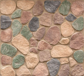 Sienna Split Rock Veneer | Stone for Walls and Fireplaces
